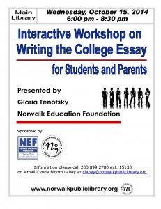 1015 College Essay Workshop -Parents AND Students  0915 091914 (1)